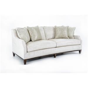 Contemporary Conrad Conversation Sofa with Exposed Wood Base