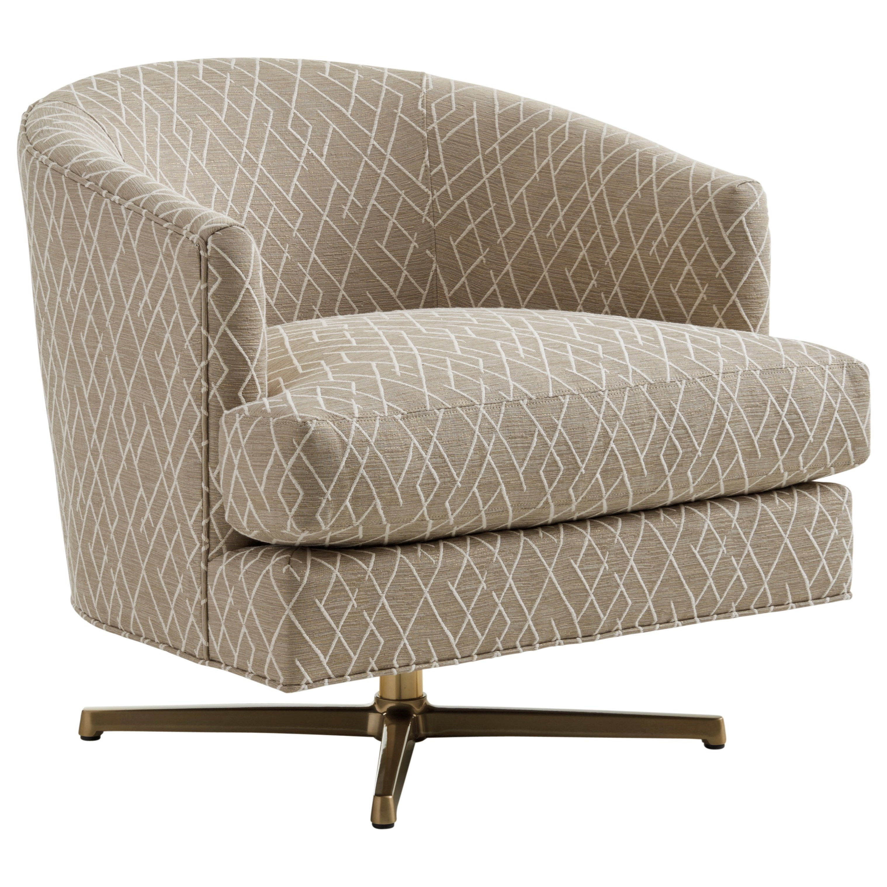 Zavala Graves Swivel Chair (Brass) by Lexington at Johnny Janosik