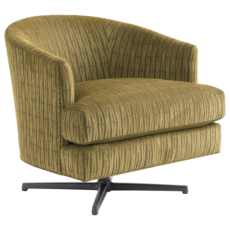 Zavala Graves Swivel Chair (Charcoal) by Lexington at Johnny Janosik