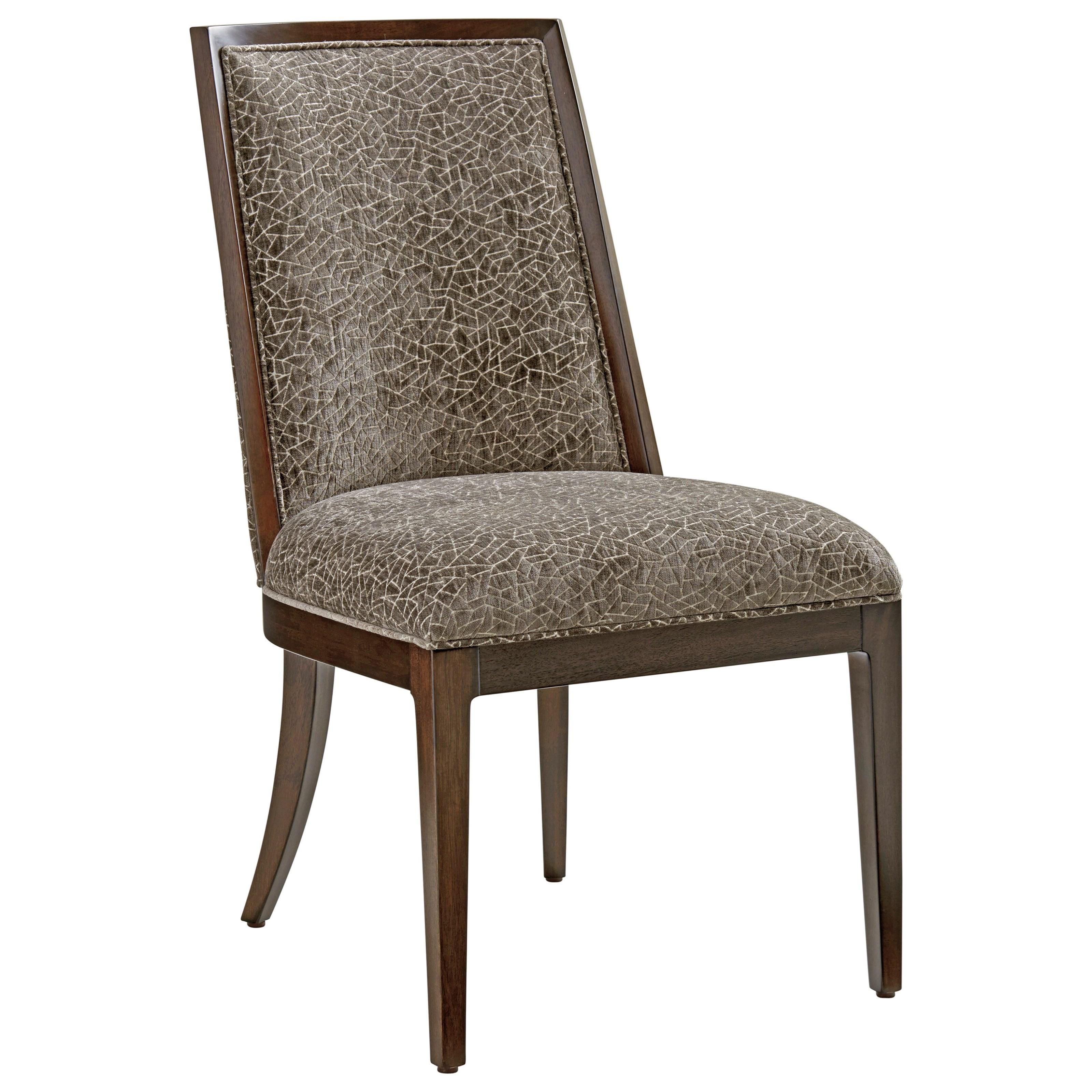 Zavala Ellipsis Upholstered Side Chair (custom) by Lexington at Johnny Janosik