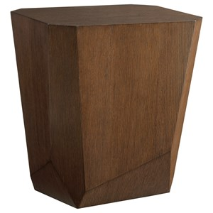 Tangent Faceted Accent Table