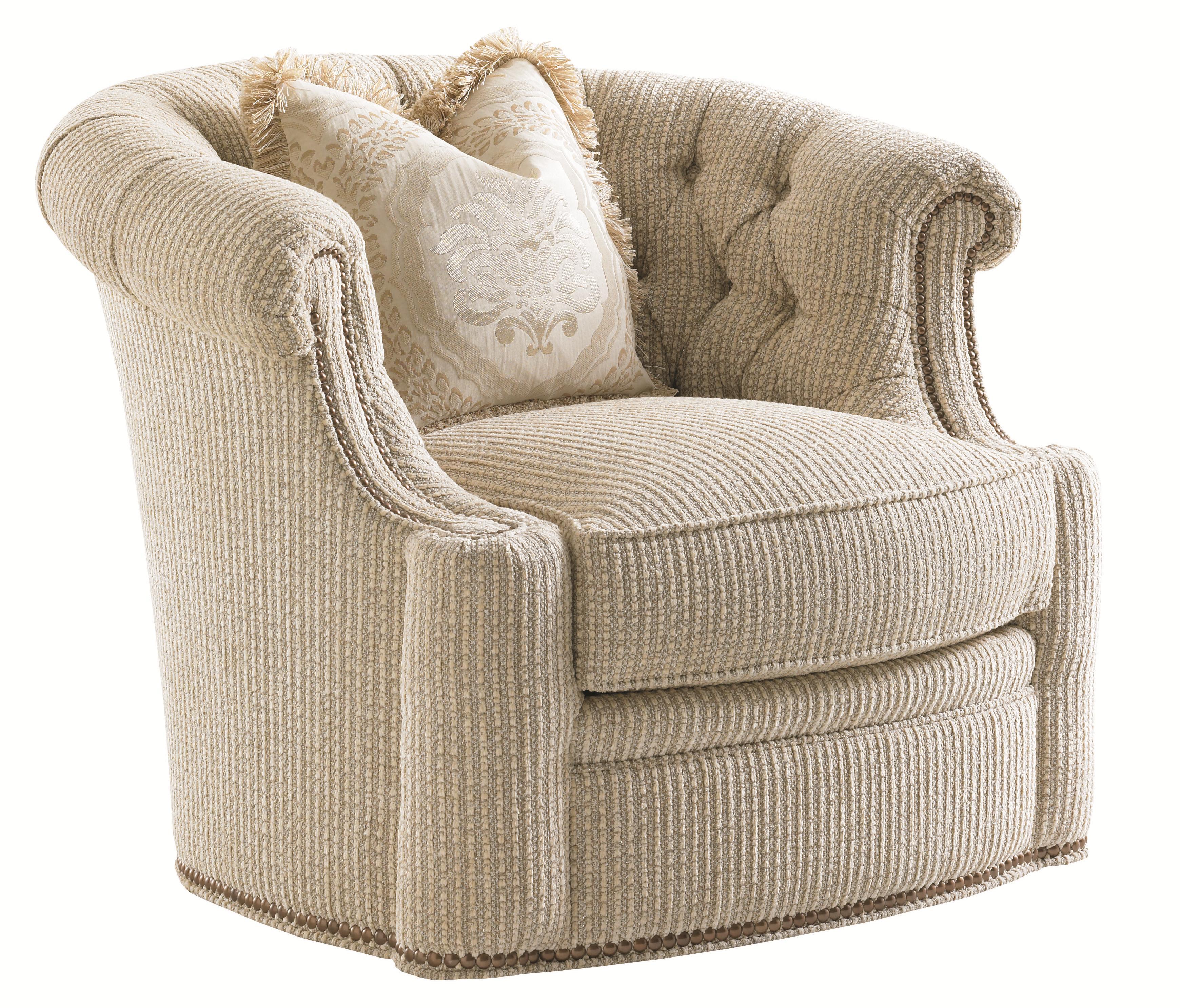 Florentino Feroni Swivel Chair by Lexington at Baer's Furniture