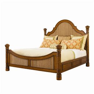 King-Size Round Hill Bed with Woven Panel Inserts