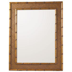 Woven Palm Grove Mirror with Bamboo Frame