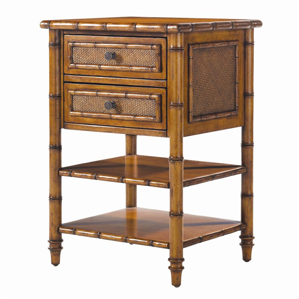 Island Estate Ginger Island 2 Drawer Bedside Chest by Tommy Bahama Home at C. S. Wo & Sons Hawaii