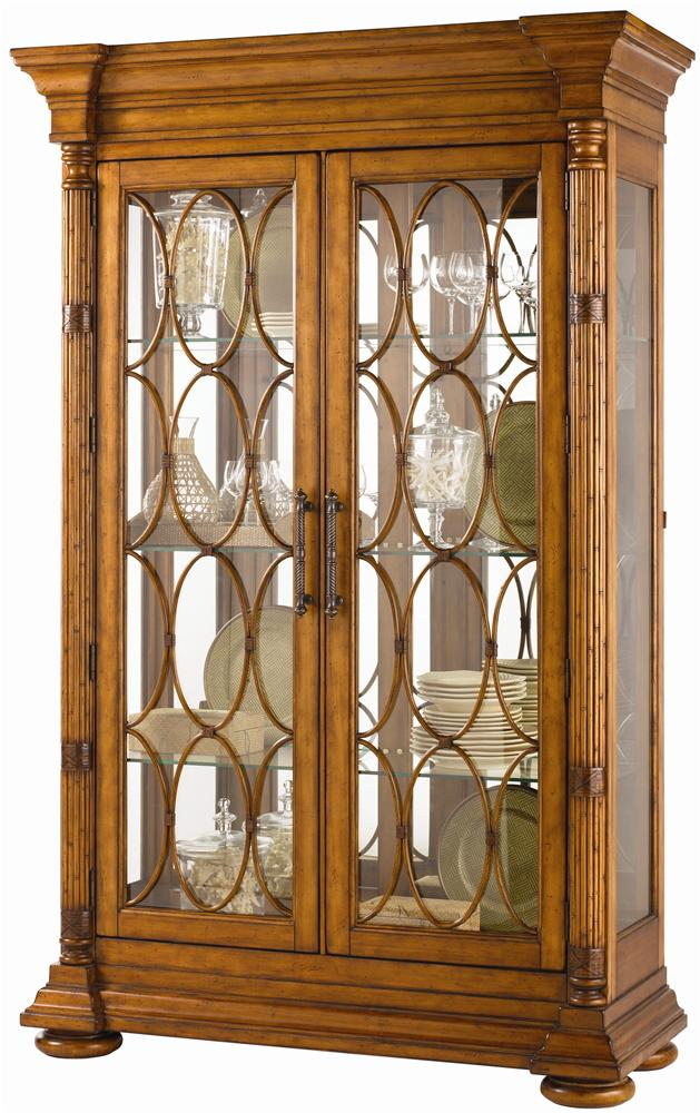 Island Estate Mariana Display Cabinet by Tommy Bahama Home at Baer's Furniture
