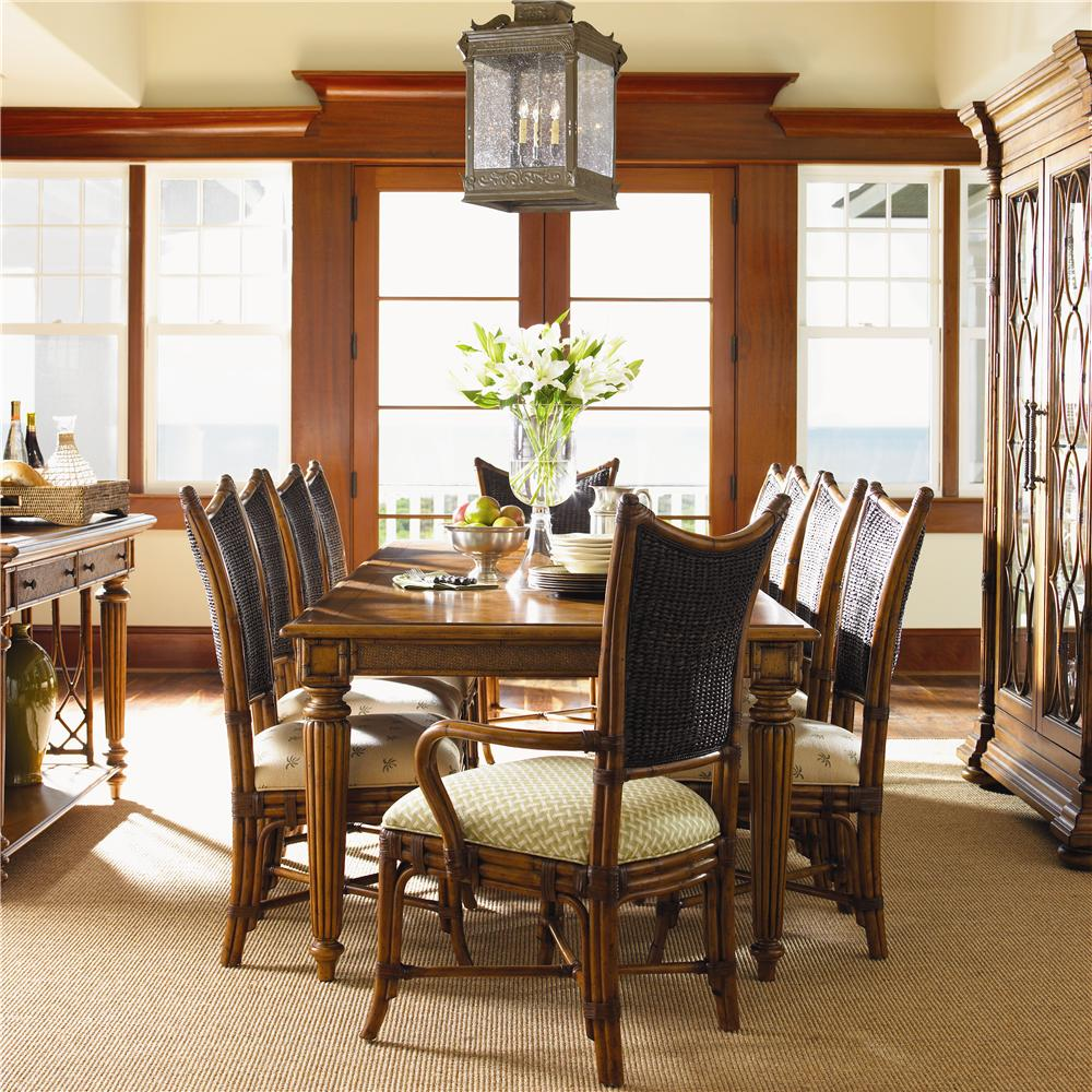 Island Estate 11 Piece Grenadine Dining Table Set by Tommy Bahama Home at Baer's Furniture