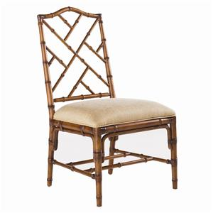 <b>Customizable</b> Ceylon Side Chair with Rattan Frame