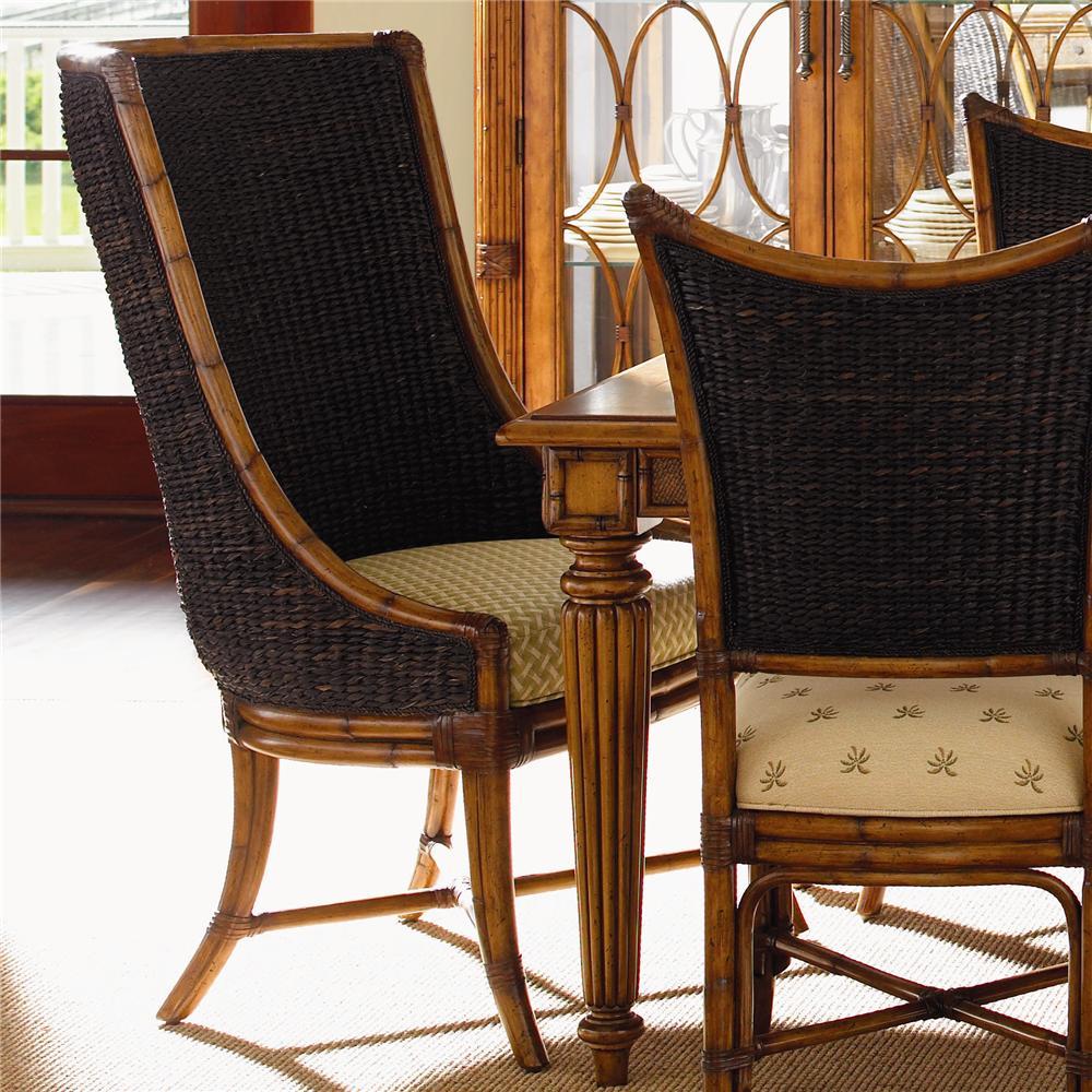Island Estate <b>Customizable</b> Cruz Bay Host Chair by Tommy Bahama Home at Baer's Furniture