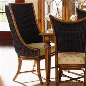 <b>Customizable</b> Cruz Bay Host Chair with Woven Abaca