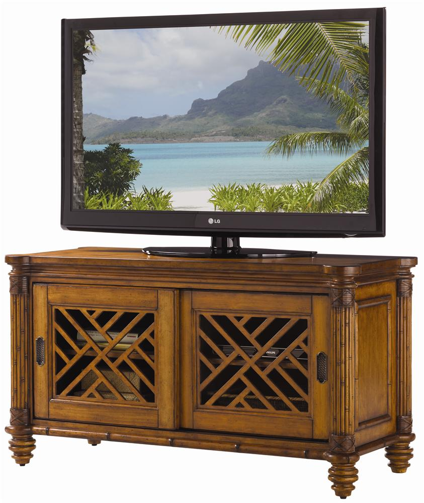 Island Estate Grand Bank Media Console by Tommy Bahama Home at Baer's Furniture