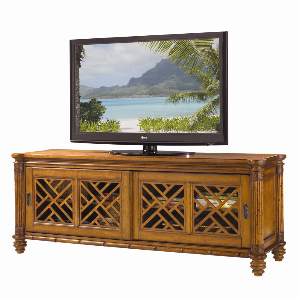Island Estate Nevis Media Console by Tommy Bahama Home at Baer's Furniture