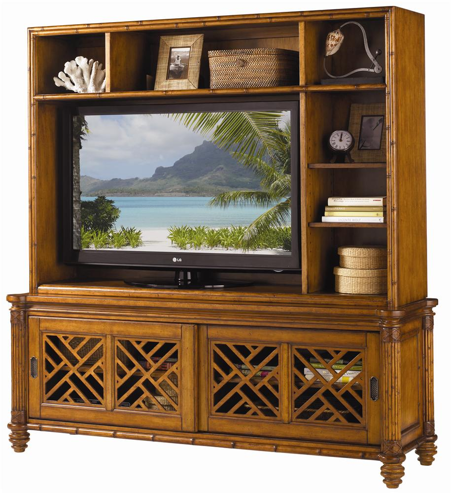 Island Estate Nevis Media Console & Hutch by Tommy Bahama Home at Baer's Furniture