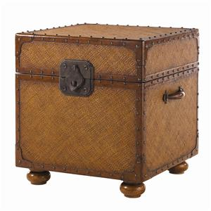 Woven East Cove Trunk End Table
