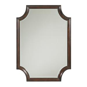 Transitional Catalina Rectangular Mirror with Scalloped Edges