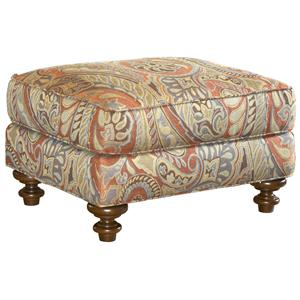 Traditional Styled Elton Accent Ottoman
