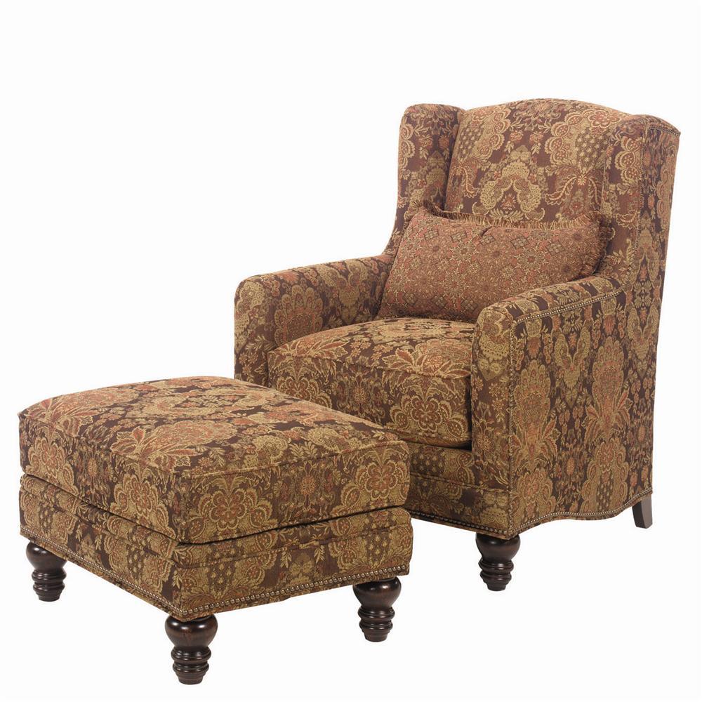 Lexington Upholstery Micah Chair and Ottoman by Lexington at Johnny Janosik