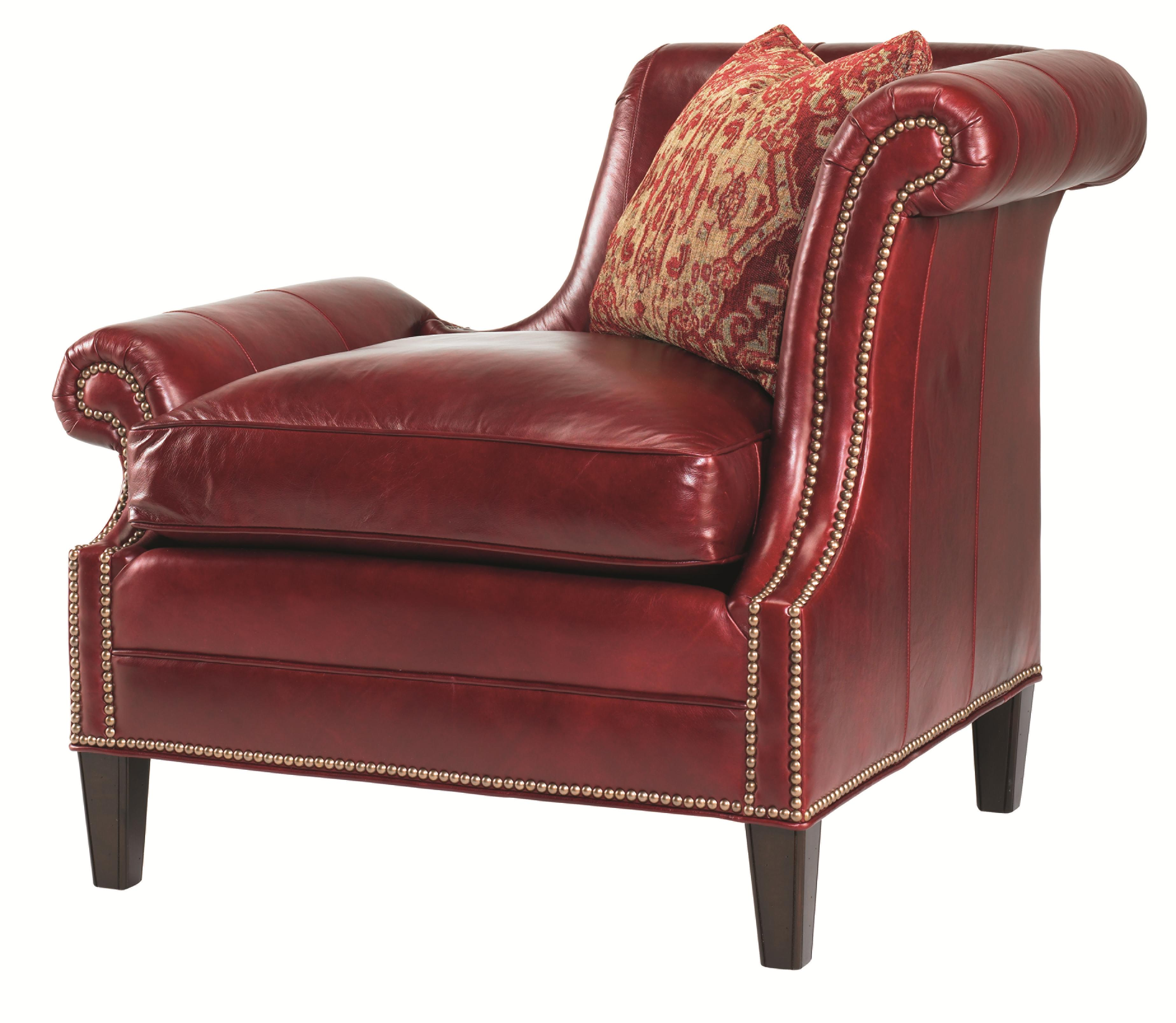 Leather Braddock Raf Upholstered Chair by Lexington at Baer's Furniture