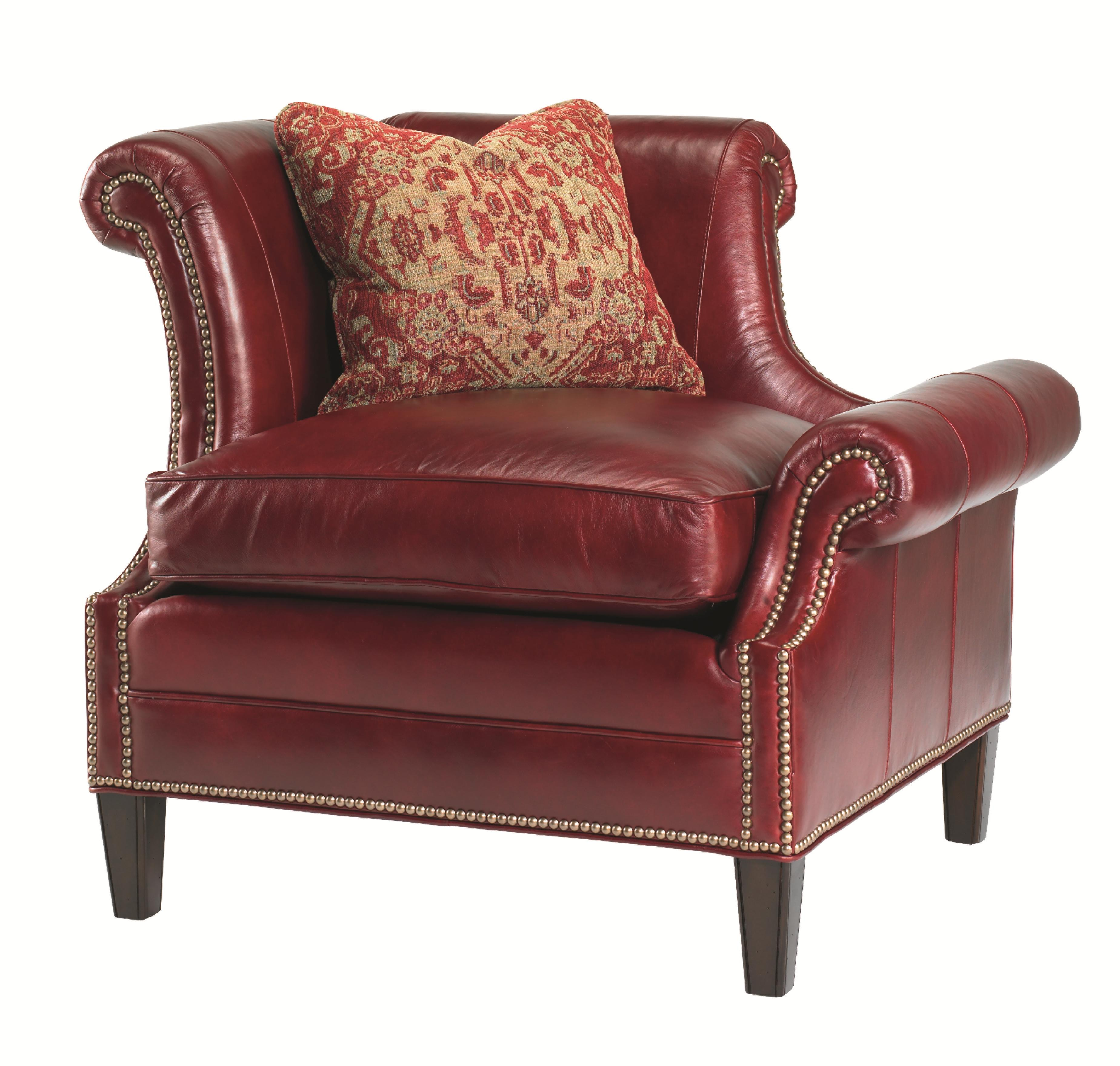 Leather Braddock Laf Upholstered Chair by Lexington at Baer's Furniture