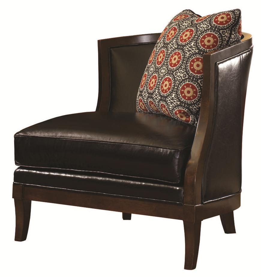 Lexington Leather Garland Right Arm Facing Chair by Lexington at Johnny Janosik