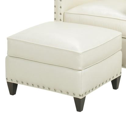 Leather Chase Ottoman by Lexington at Baer's Furniture