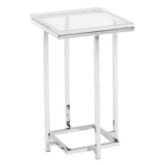 Mirage Stanwyck Glass Top Accent Table by Lexington at Baer's Furniture