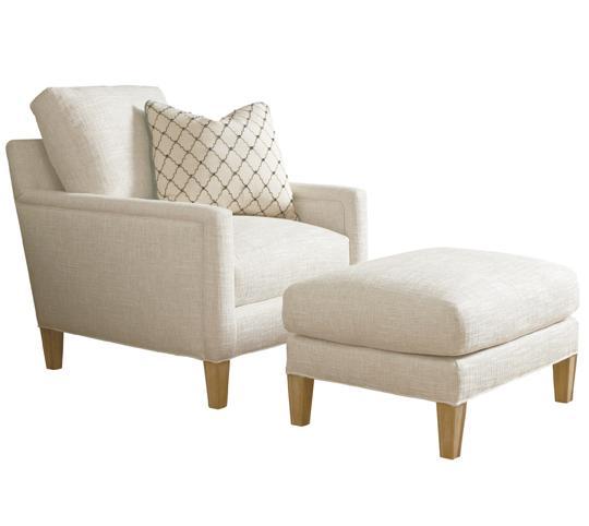 Monterey Sands Signal Hill Chair & Ottoman by Lexington at Baer's Furniture