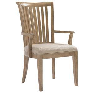 <b>Customizable</b> Alameda Slat Back Arm Chair