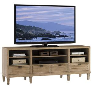 Spanish Bay Entertainment Console with Four Drawers