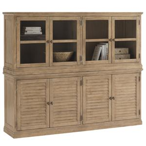Palo Alto Louvered Door Stacking Unit Base with Sausalito Glass Door Stacking Top Unit