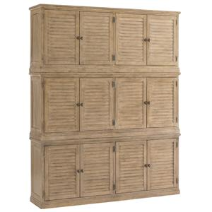 Palo Alto Louvered Door Stacking Closed Bookcase