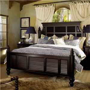 King-Size Malabar Panel Bed with Shutter Headboard & Footboard