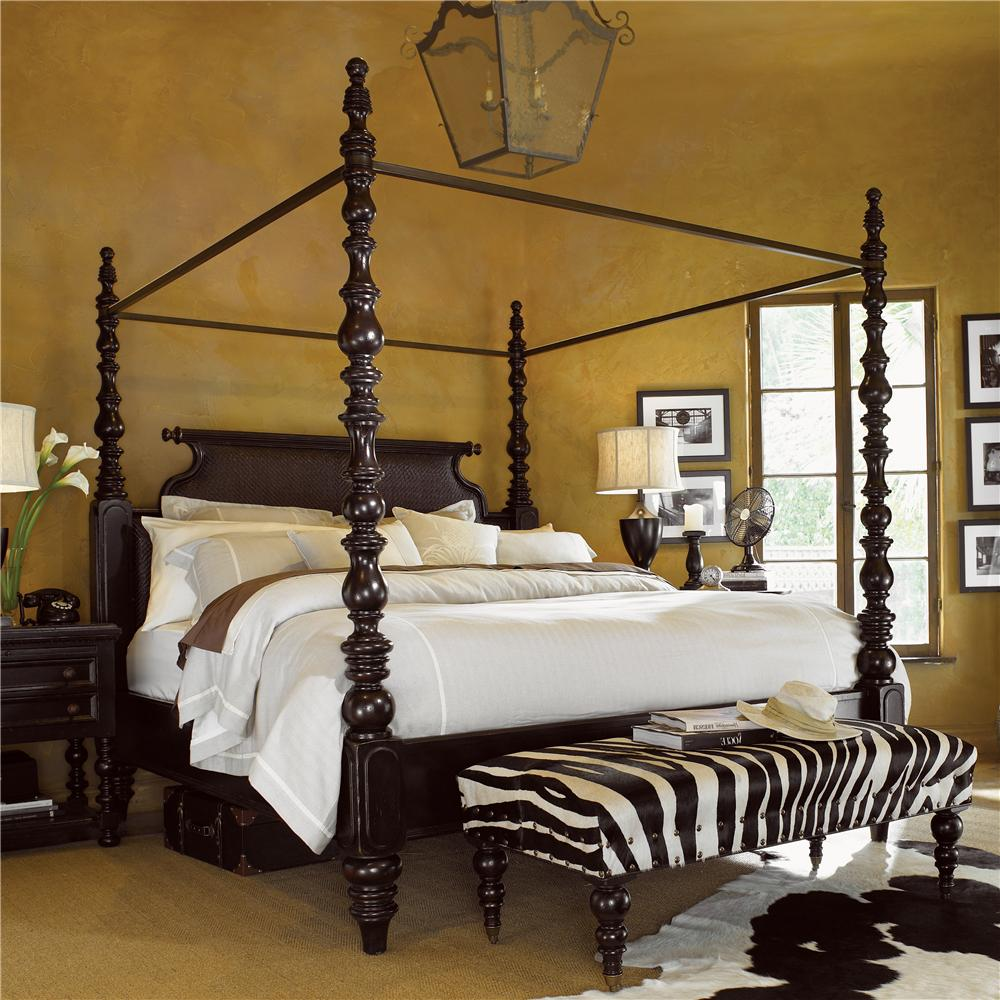 Kingstown King Sovereign Poster Bed by Tommy Bahama Home at Baer's Furniture
