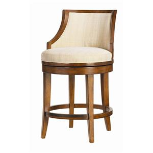 "<b>Quick Ship</b> 24.5"" Cabana Swivel Counter Stool with Horizontal Back Slats"