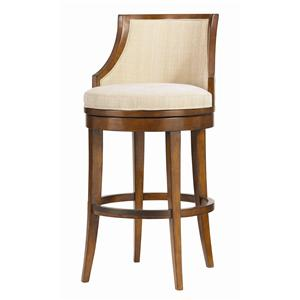 "<b>Quick Ship</b> 30"" Cabana Swivel Bar Stool with Horizontal Back Slats"
