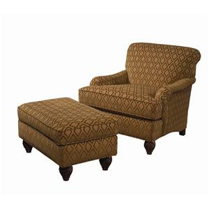 Regatta Tight Back Chair & Semi-Attached Top Ottoman