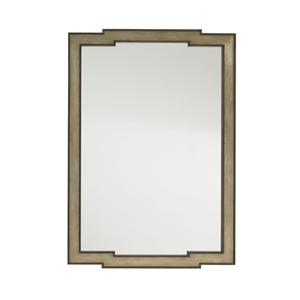 Contemporary Glencoe Wall Mirror with Gold Leaf Frame