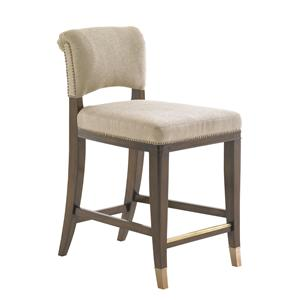 Contemporary LaSalle Quickship Counter Stool in Kendall Fabric