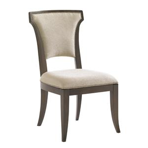 Contemporary Seneca Quickship Side Chair in Kendall Fabric