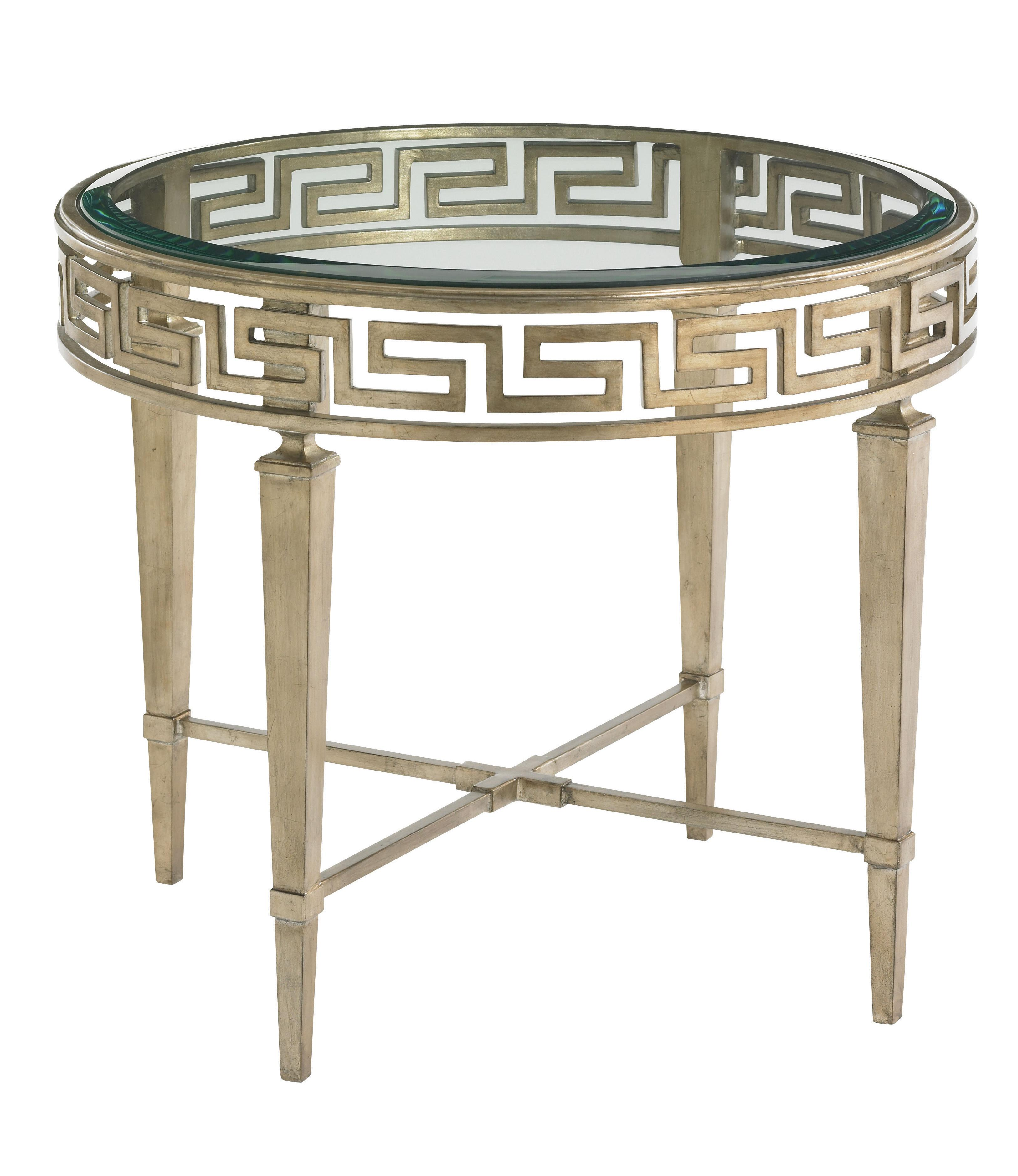Tower Place Aston Round Lamp Table by Lexington at Baer's Furniture
