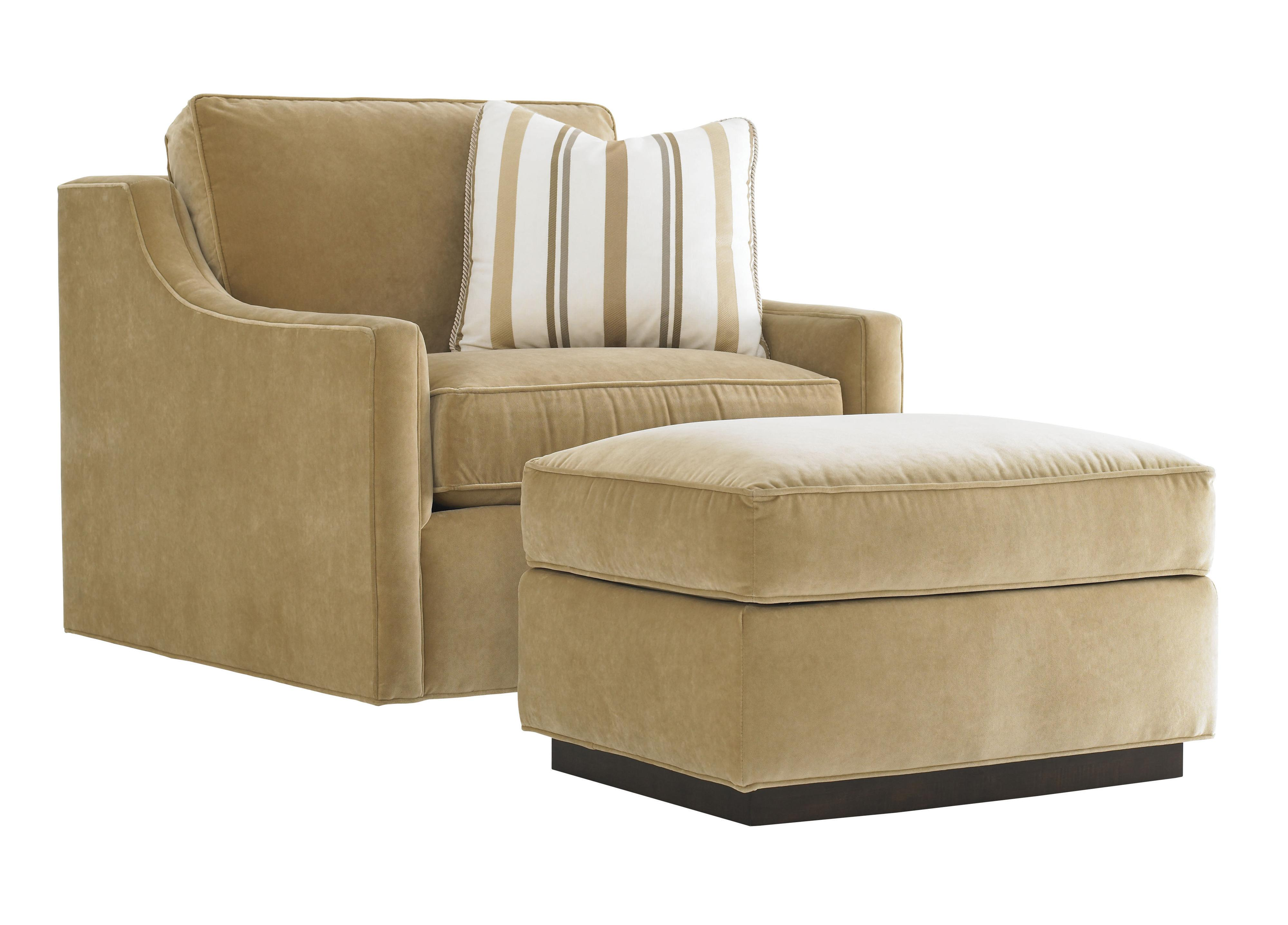 Tower Place Bartlett Chair and Ottoman by Lexington at Johnny Janosik