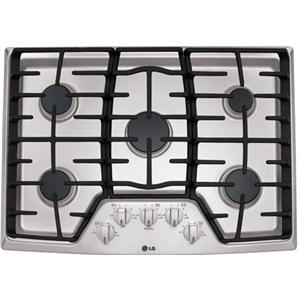 """LG Appliances Cooktops 30"""" Built-In Gas Cooktop"""