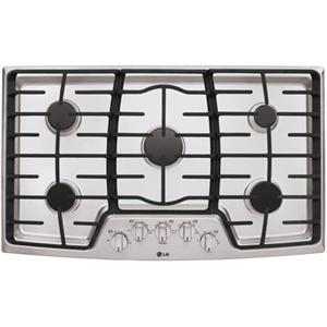 """LG Appliances Cooktops 36"""" Built-In Gas Cooktop"""