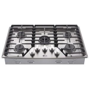 "LG Appliances Cooktops LG Studio - 30"" Gas Cooktop"