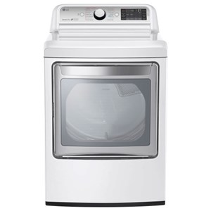 7.3 cu. ft. Ultra Large Capacity TurboSteam™ Electric Dryer with LG EasyLoad™ Door