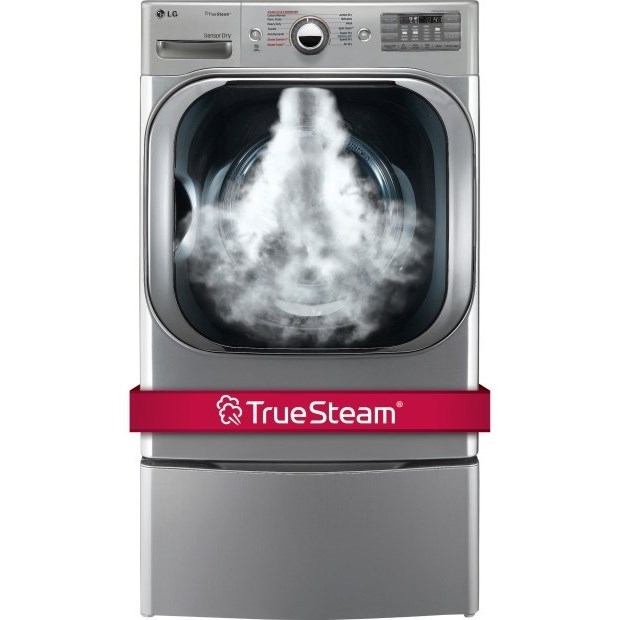 Dryers 9.0 Cu. Ft. Electric Steam™ Dryer by LG Appliances at Furniture and ApplianceMart