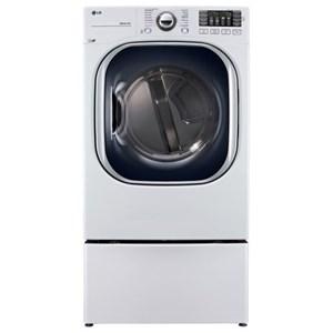 LG Appliances Dryers 7.4 Cu. Ft. TurboSteam™ Gas Dryer