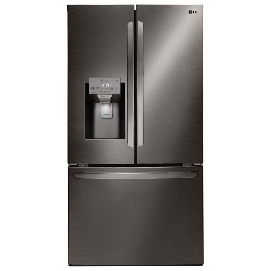 French Door Refrigerators 26 Cu. Ft. French Door Refrigerator by LG Appliances at Furniture and ApplianceMart