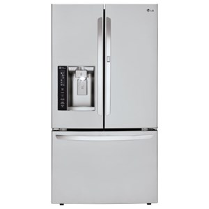 LG Appliances French Door Refrigerators 27 cu.t. Capacity 3-Door French Door Fridge