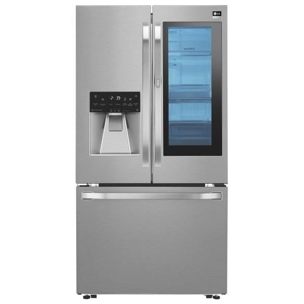 French Door Refrigerators 24 Cu.Ft. InstaView™ Counter-Depth Fridge by LG Appliances at Westrich Furniture & Appliances
